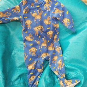 Footsie monkey pijamas